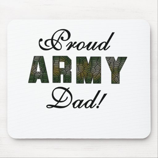 Proud Army Dad Mouse Pads