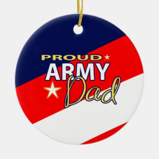 Proud Army Dad Ornament with Custom Picture