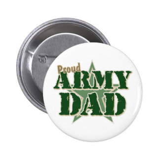 Proud Army Dad Pinback Buttons