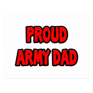Proud Army Dad Post Card