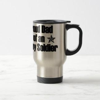 Proud Army Dad Stainless Steel Travel Mug