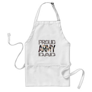 Proud army dad standard apron