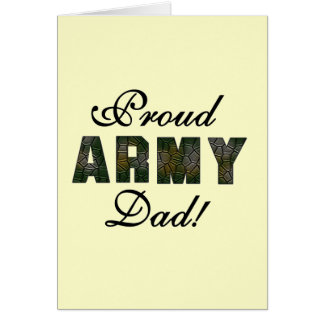 Proud Army Dad Tshirts and Gifts Card