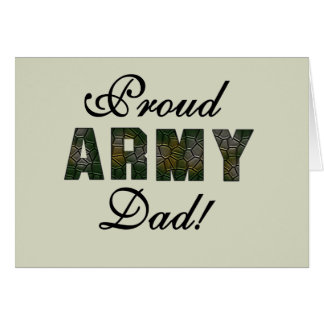 Proud Army Dad Tshirts and Gifts Greeting Card
