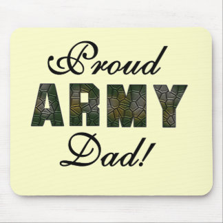 Proud Army Dad Tshirts and Gifts Mouse Pad