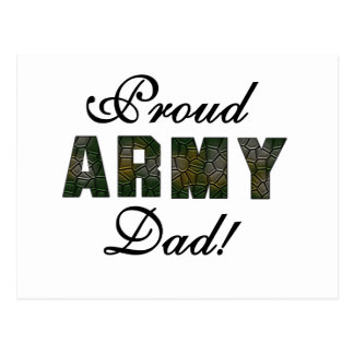 Proud Army Dad Tshirts and Gifts Post Cards