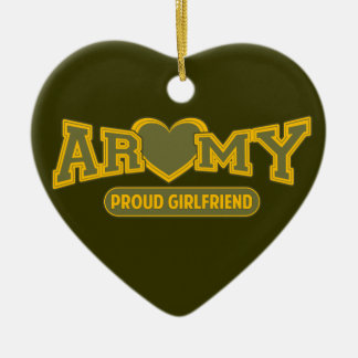 Proud Army Girlfriend Ceramic Heart Decoration