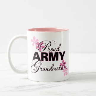Proud Army Grandmother Two-Tone Coffee Mug