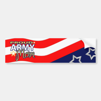 Proud Army Mom Bumpersticker Bumper Sticker