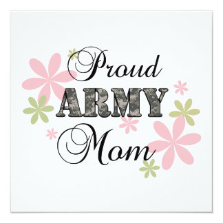 Proud Army Mom [fl c] Personalized Invitations