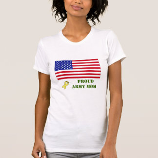 PROUD ARMY MOM w/Yellow Ribbon (pl... - Customized Shirts
