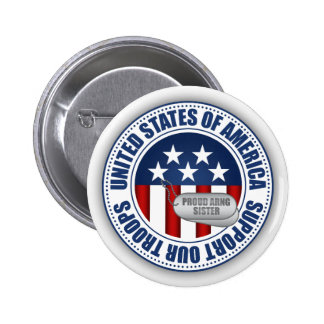 Proud Army National Guard Sister Pinback Button