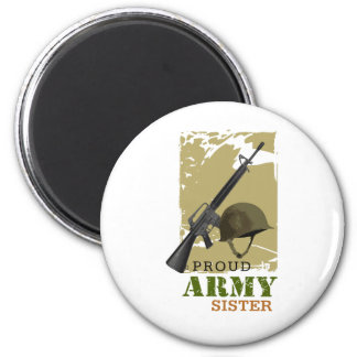 Proud Army Sister 6 Cm Round Magnet