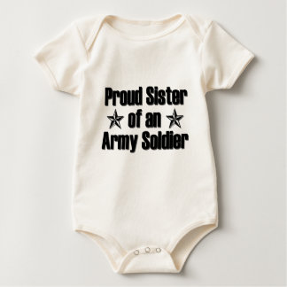 Proud Army Sister Baby Bodysuit