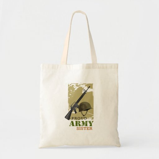 Proud Army Sister Canvas Bags