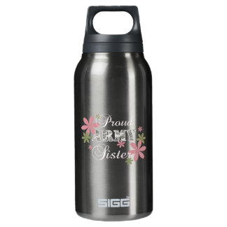 Proud Army Sister [fl c] 0.3 Litre Insulated SIGG Thermos Water Bottle