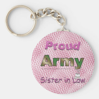Proud Army Sister in Law Keychain