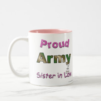 Proud Army Sister in Law Mug