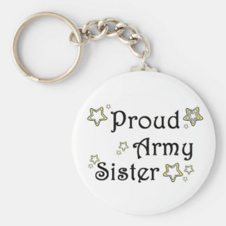 proud army sister key ring