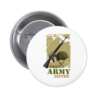 Proud Army Sister Pinback Button