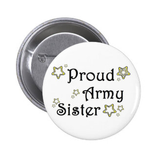 proud army sister pinback buttons