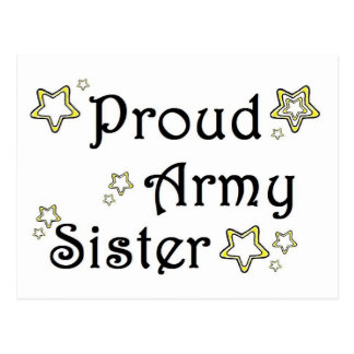 proud army sister postcard