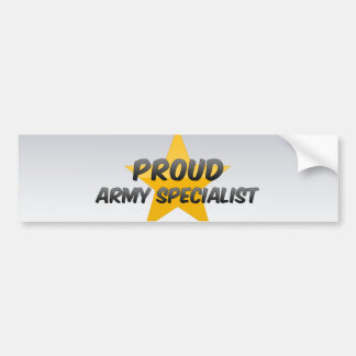 Proud Army Specialist Bumper Stickers