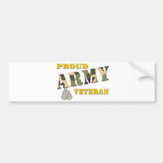 Proud Army Veteran Items Bumper Sticker