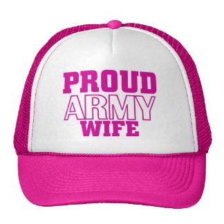 Proud army wife cap