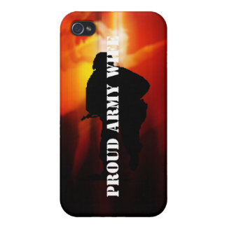 Proud Army Wife Cases For iPhone 4
