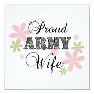 Proud Army Wife [fl c] Personalized Invitations