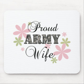Proud Army Wife fl c Mouse Pads