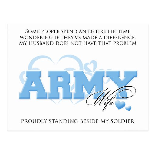 Proud ARMY Wife Post Card