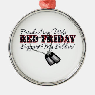 Proud Army Wife Support My Soldier Ornament