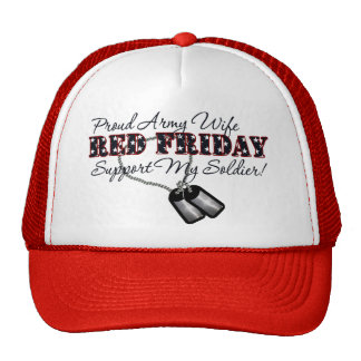 Proud Army Wife (Support My Soldier) Trucker Hat
