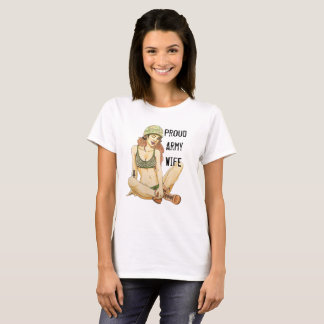 Proud Army Wife T-shirt with Unique Artwork