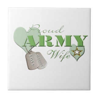 Proud Army Wife Tile