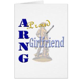 Proud ARNG Girlfriend Greeting Card