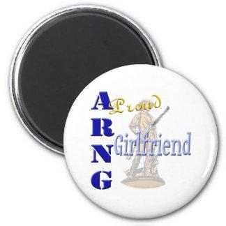 Proud ARNG Girlfriend Fridge Magnet