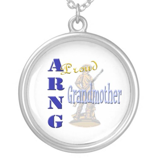 Proud ARNG Grandmother Necklace