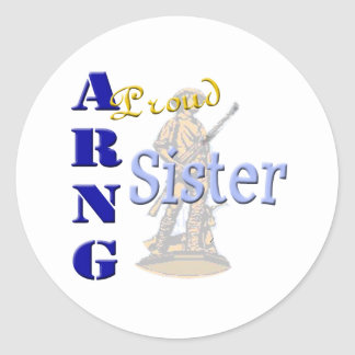 Proud ARNG Sister Round Sticker