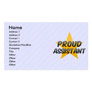 Proud Assistant Business Card Templates