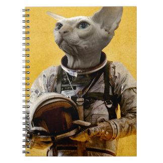 Proud astronaut spiral notebooks