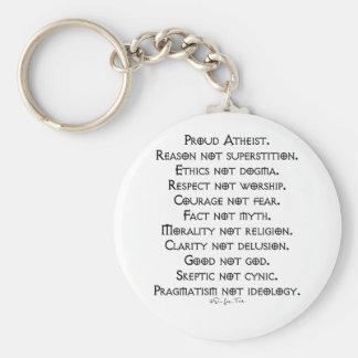 Proud Atheist Keychain