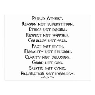 Proud Atheist Postcard