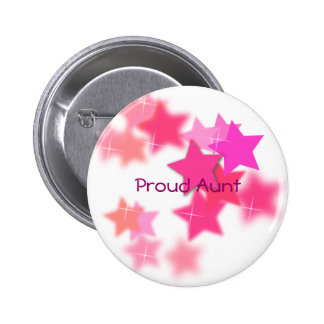 Proud Aunt 6 Cm Round Badge