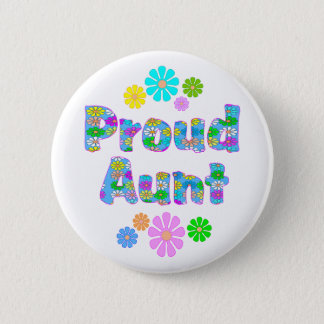 Proud Aunt 6 Cm Round Badge