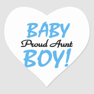 Proud Aunt Baby Boy T-shirts and Gifts Heart Stickers