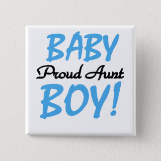 Proud Aunt Baby Boy Tshirts and Gifts 15 Cm Square Badge