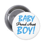 Proud Aunt Baby Boy Tshirts and Gifts 6 Cm Round Badge